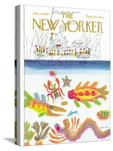 The New Yorker Cover - January 14, 1967-Joseph Low-Stretched Canvas Print