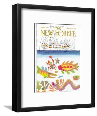 The New Yorker Cover - January 14, 1967-Joseph Low-Framed Art Print