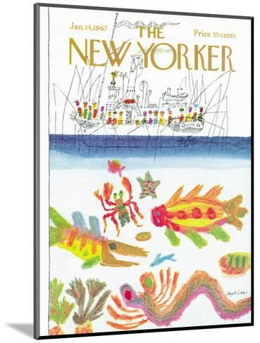 The New Yorker Cover - January 14, 1967-Joseph Low-Mounted Premium Giclee Print