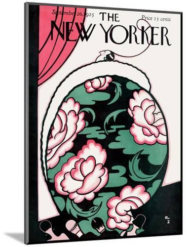 The New Yorker Cover - September 26, 1925-Rea Irvin-Mounted Premium Giclee Print
