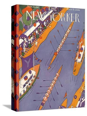 The New Yorker Cover - June 25, 1927-Ilonka Karasz-Stretched Canvas Print