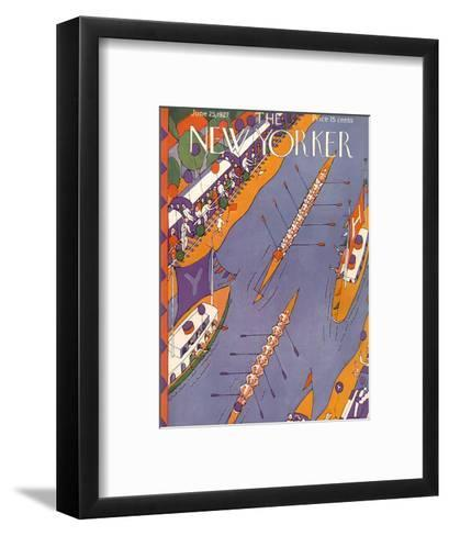 The New Yorker Cover - June 25, 1927-Ilonka Karasz-Framed Art Print