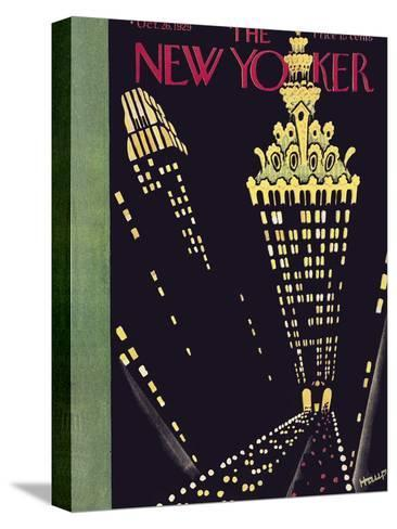 The New Yorker Cover - October 26, 1929-Theodore G. Haupt-Stretched Canvas Print