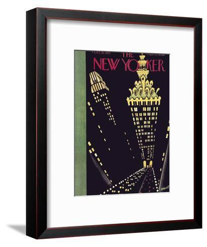 The New Yorker Cover - October 26, 1929-Theodore G. Haupt-Framed Art Print