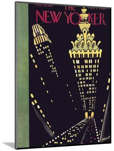The New Yorker Cover - October 26, 1929-Theodore G. Haupt-Mounted Premium Giclee Print
