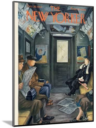 The New Yorker Cover - December 30, 1944-Constantin Alajalov-Mounted Premium Giclee Print