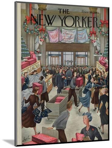 The New Yorker Cover - December 10, 1949-Constantin Alajalov-Mounted Premium Giclee Print