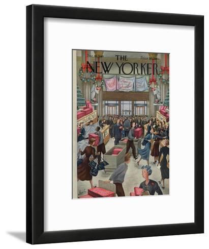 The New Yorker Cover - December 10, 1949-Constantin Alajalov-Framed Art Print