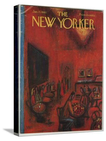 The New Yorker Cover - January 21, 1961-Robert Kraus-Stretched Canvas Print