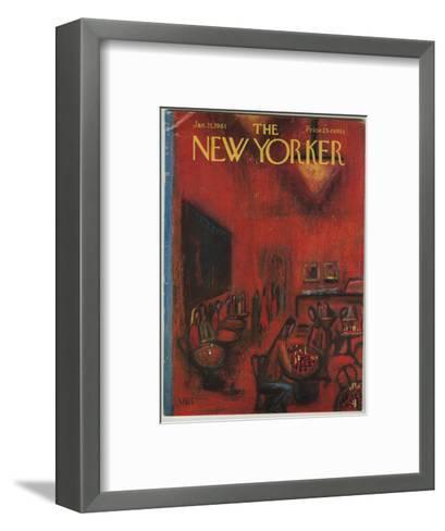 The New Yorker Cover - January 21, 1961-Robert Kraus-Framed Art Print