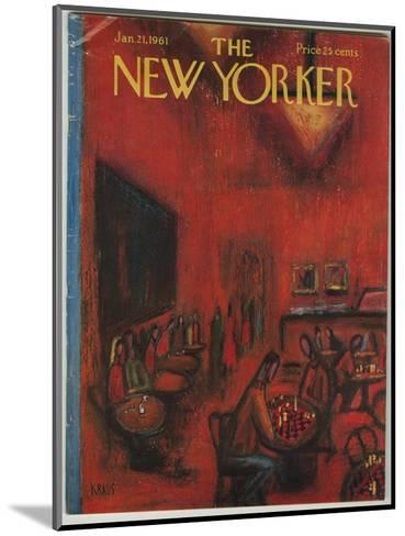 The New Yorker Cover - January 21, 1961-Robert Kraus-Mounted Premium Giclee Print