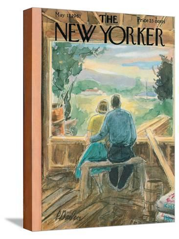 The New Yorker Cover - May 13, 1961-Perry Barlow-Stretched Canvas Print