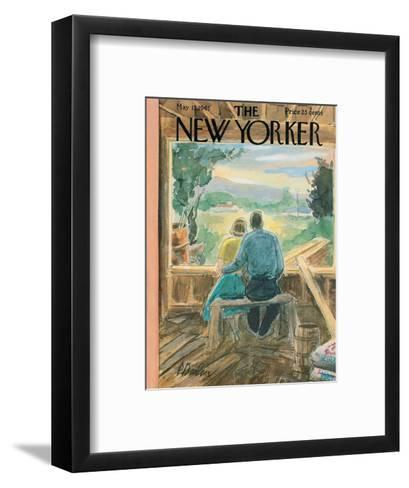 The New Yorker Cover - May 13, 1961-Perry Barlow-Framed Art Print