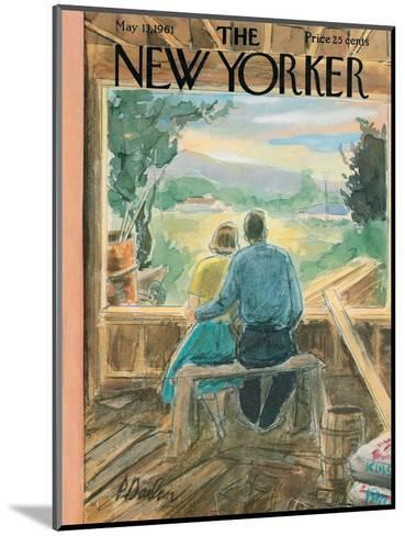 The New Yorker Cover - May 13, 1961-Perry Barlow-Mounted Premium Giclee Print