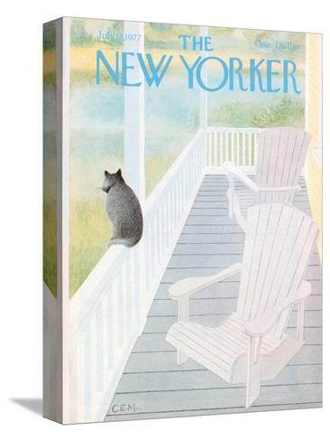 The New Yorker Cover - July 18, 1977-Charles E. Martin-Stretched Canvas Print