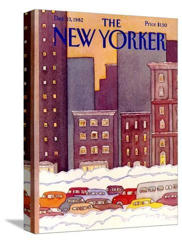 The New Yorker Cover - December 13, 1982-Lonni Sue Johnson-Stretched Canvas Print