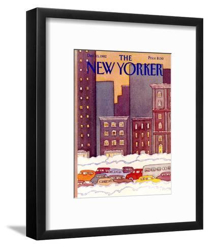 The New Yorker Cover - December 13, 1982-Lonni Sue Johnson-Framed Art Print