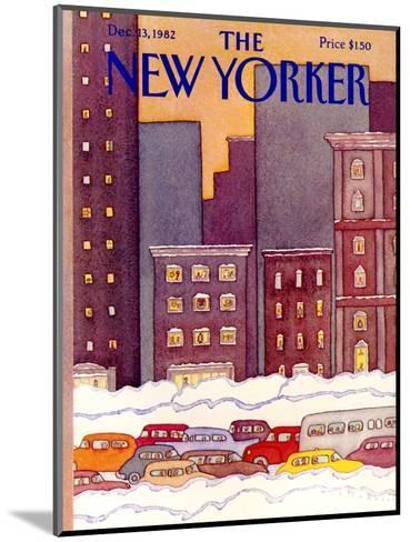 The New Yorker Cover - December 13, 1982-Lonni Sue Johnson-Mounted Premium Giclee Print