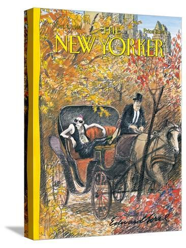 The New Yorker Cover - October 5, 1992-Edward Sorel-Stretched Canvas Print
