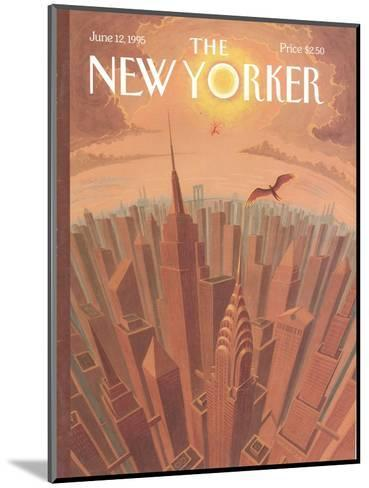 The New Yorker Cover - June 12, 1995-Eric Drooker-Mounted Premium Giclee Print