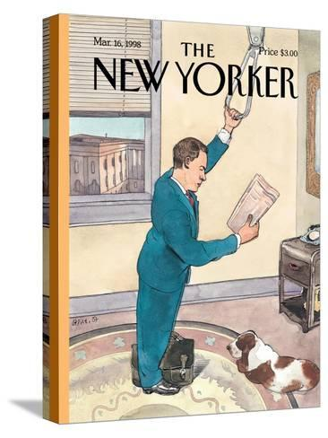 The New Yorker Cover - March 16, 1998-Barry Blitt-Stretched Canvas Print