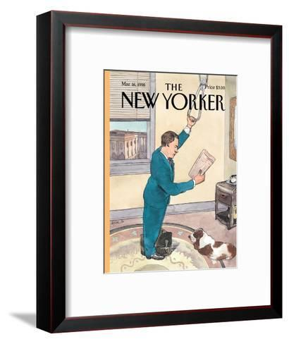 The New Yorker Cover - March 16, 1998-Barry Blitt-Framed Art Print