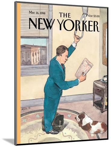 The New Yorker Cover - March 16, 1998-Barry Blitt-Mounted Premium Giclee Print