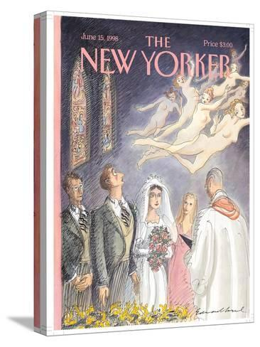 The New Yorker Cover - June 15, 1998-Edward Sorel-Stretched Canvas Print