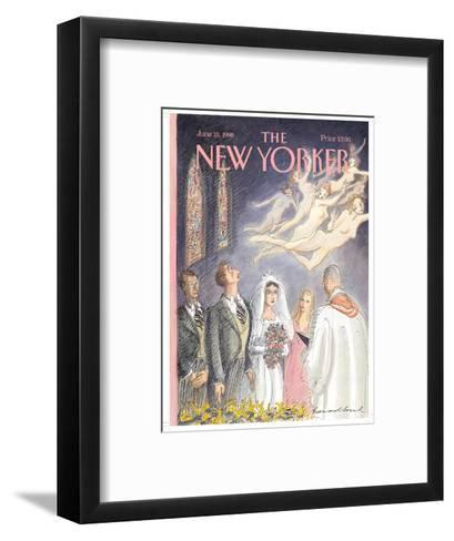 The New Yorker Cover - June 15, 1998-Edward Sorel-Framed Art Print
