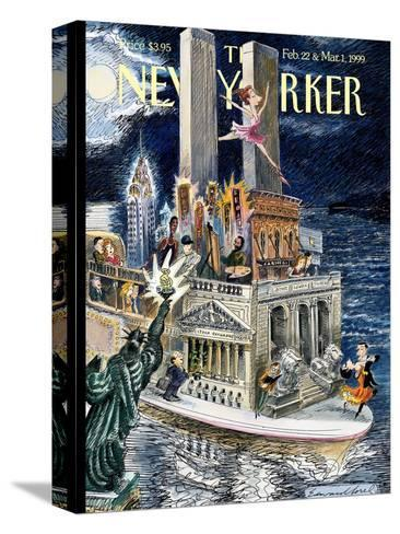 The New Yorker Cover - February 22, 1999-Edward Sorel-Stretched Canvas Print