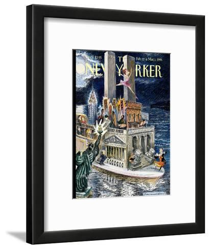 The New Yorker Cover - February 22, 1999-Edward Sorel-Framed Art Print