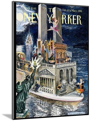 The New Yorker Cover - February 22, 1999-Edward Sorel-Mounted Premium Giclee Print