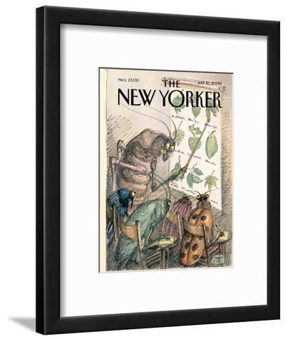 The New Yorker Cover - July 10, 2000-Edward Sorel-Framed Art Print