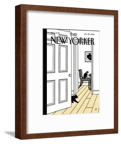 The New Yorker Cover - January 20, 2003-Jean Claude Floc'h-Framed Art Print