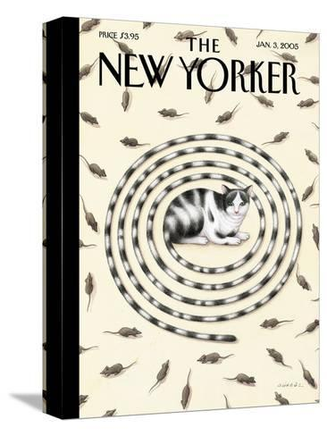 The New Yorker Cover - January 3, 2005-G?rb?z Dogan Eksioglu-Stretched Canvas Print