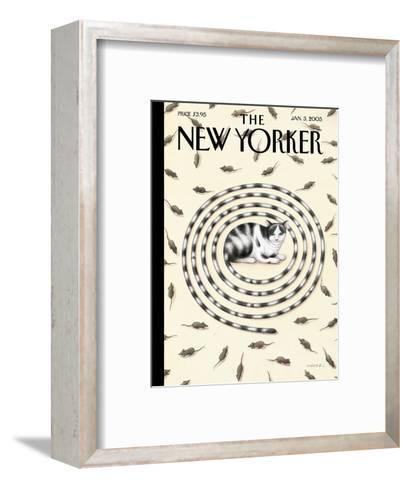 The New Yorker Cover - January 3, 2005-G?rb?z Dogan Eksioglu-Framed Art Print