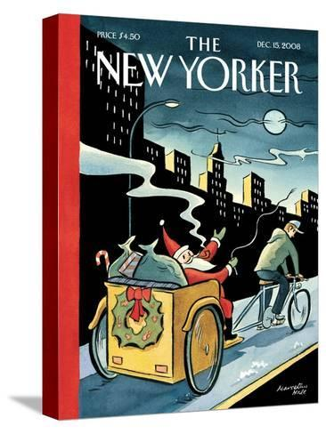 The New Yorker Cover - December 15, 2008-Marcellus Hall-Stretched Canvas Print