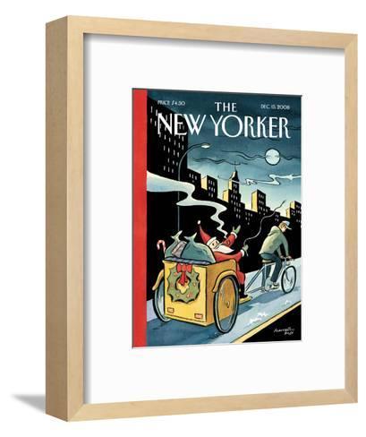 The New Yorker Cover - December 15, 2008-Marcellus Hall-Framed Art Print