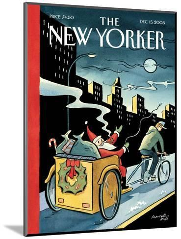 The New Yorker Cover - December 15, 2008-Marcellus Hall-Mounted Premium Giclee Print