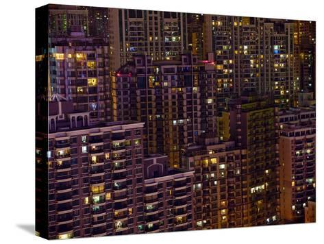 Tightly Packed Apartment Buildings in Shanghai--Stretched Canvas Print