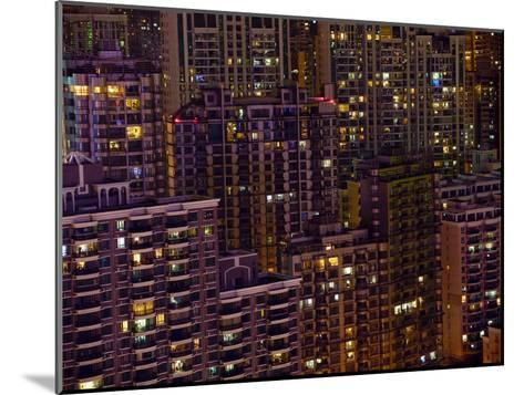 Tightly Packed Apartment Buildings in Shanghai--Mounted Photographic Print