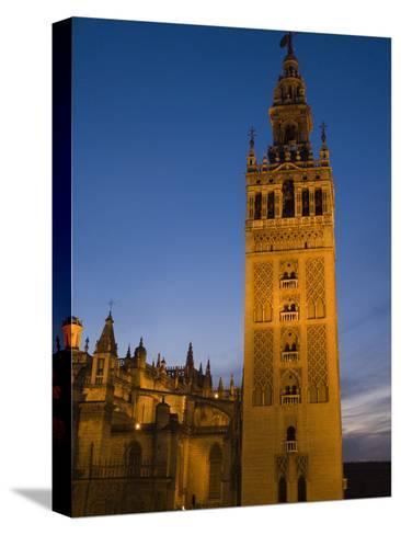 The Giralda Tower and Cathedral De Sevilla at Dusk-Krista Rossow-Stretched Canvas Print