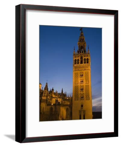 The Giralda Tower and Cathedral De Sevilla at Dusk-Krista Rossow-Framed Art Print