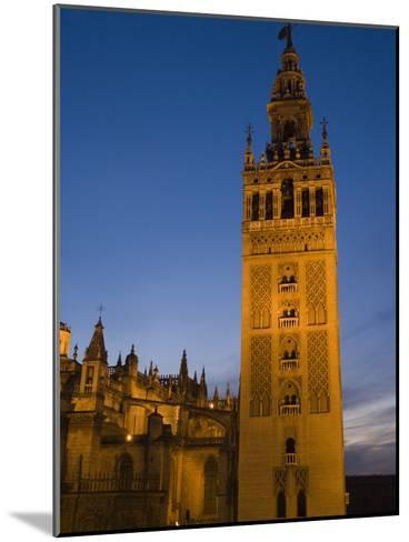 The Giralda Tower and Cathedral De Sevilla at Dusk-Krista Rossow-Mounted Photographic Print