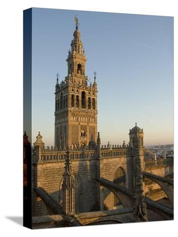 View of the Giralda Tower and the Rooftop of the Cathedral of Seville-Krista Rossow-Stretched Canvas Print
