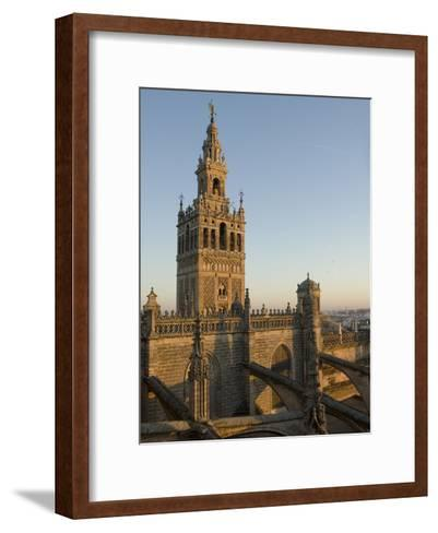 View of the Giralda Tower and the Rooftop of the Cathedral of Seville-Krista Rossow-Framed Art Print