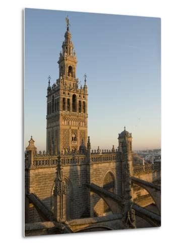 View of the Giralda Tower and the Rooftop of the Cathedral of Seville-Krista Rossow-Metal Print