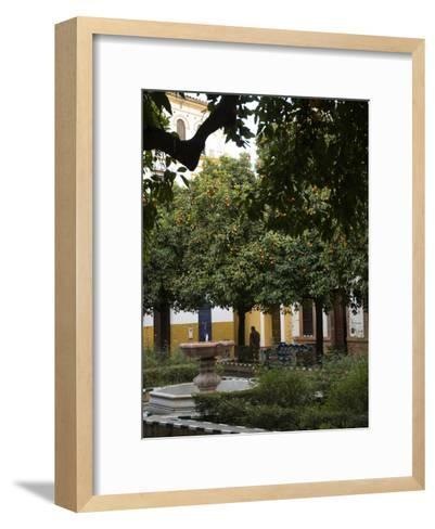 Early Morning in the Barrio De Santa Cruz, Seville, Andalusia, Spain-Krista Rossow-Framed Art Print
