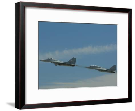 Performance of the Hungarian Team at the Kecskemet Air Show-Joe Petersburger-Framed Art Print