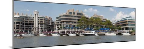 Georgetown Waterfront with Restaurants and Boats Along Potomac River-Greg-Mounted Photographic Print